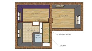 Mieszkanie 55,88 m², 2 pokoje, parter